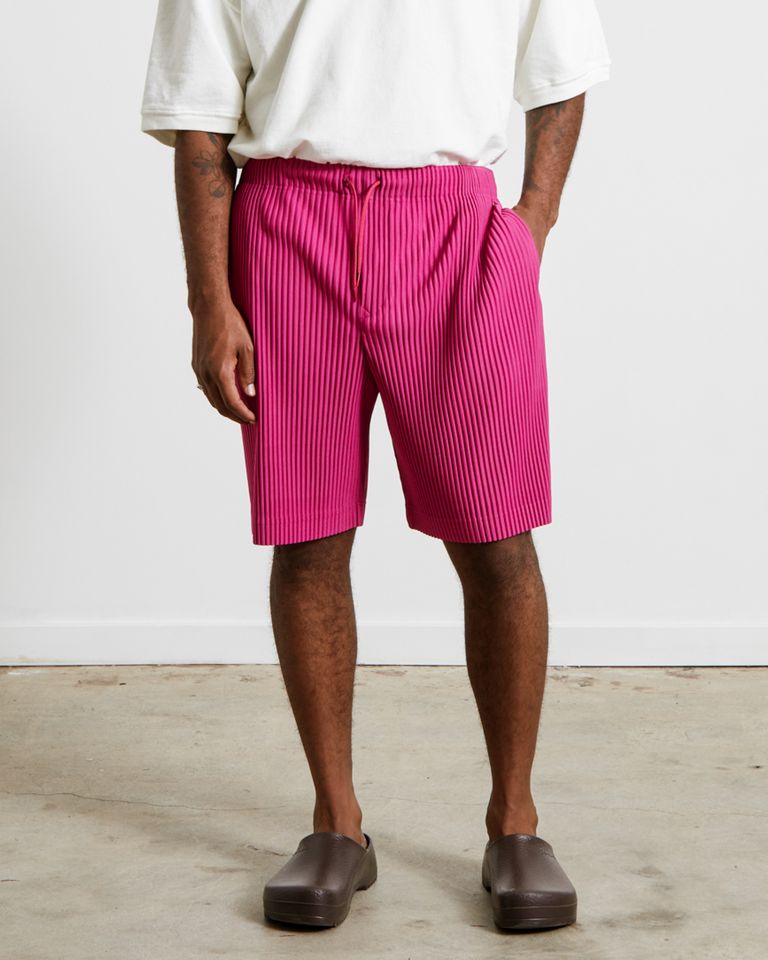 HP16JF133 Pleated Shorts in Magenta