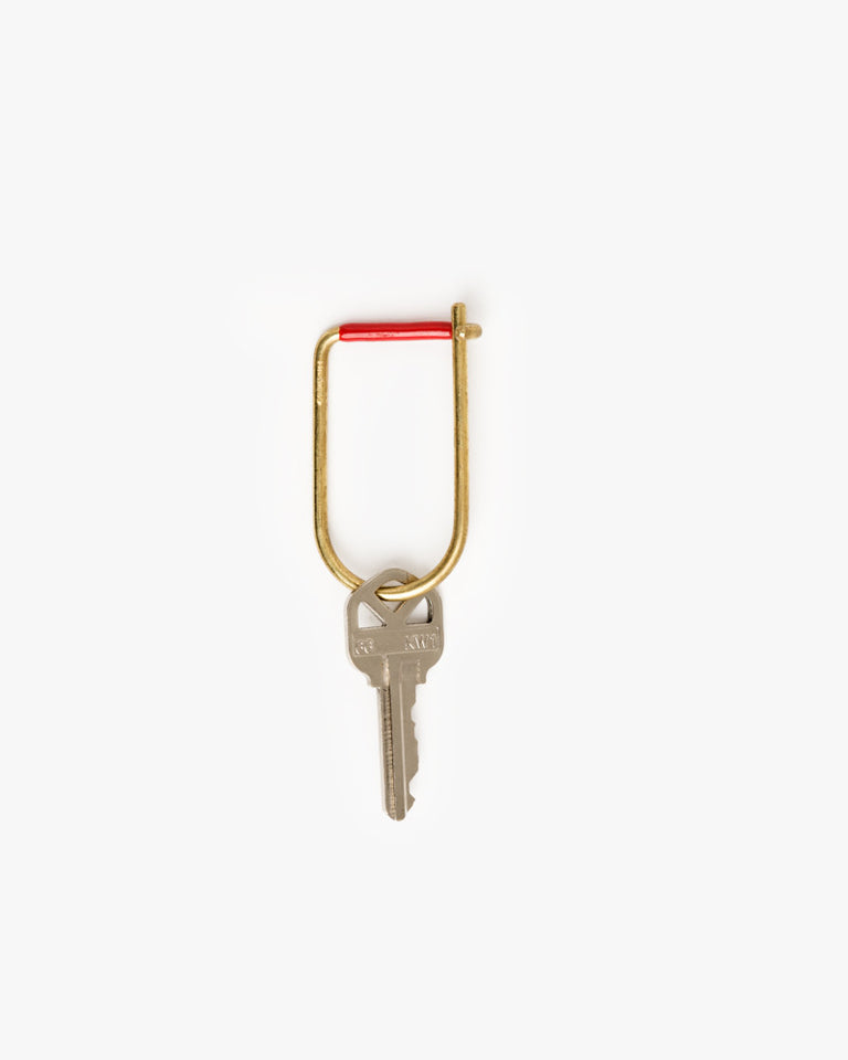 Wilson Key Ring in Red