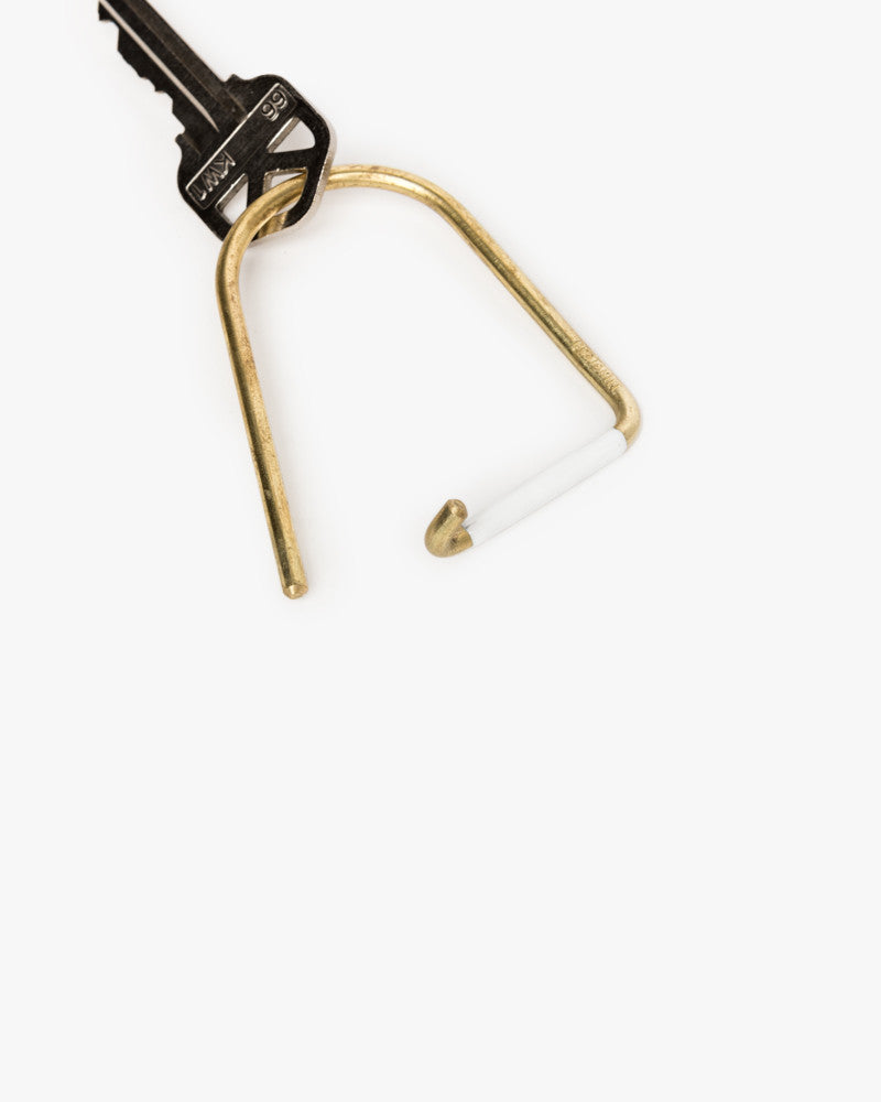 Wilson Key Ring in White by Craighill at Mohawk General Store