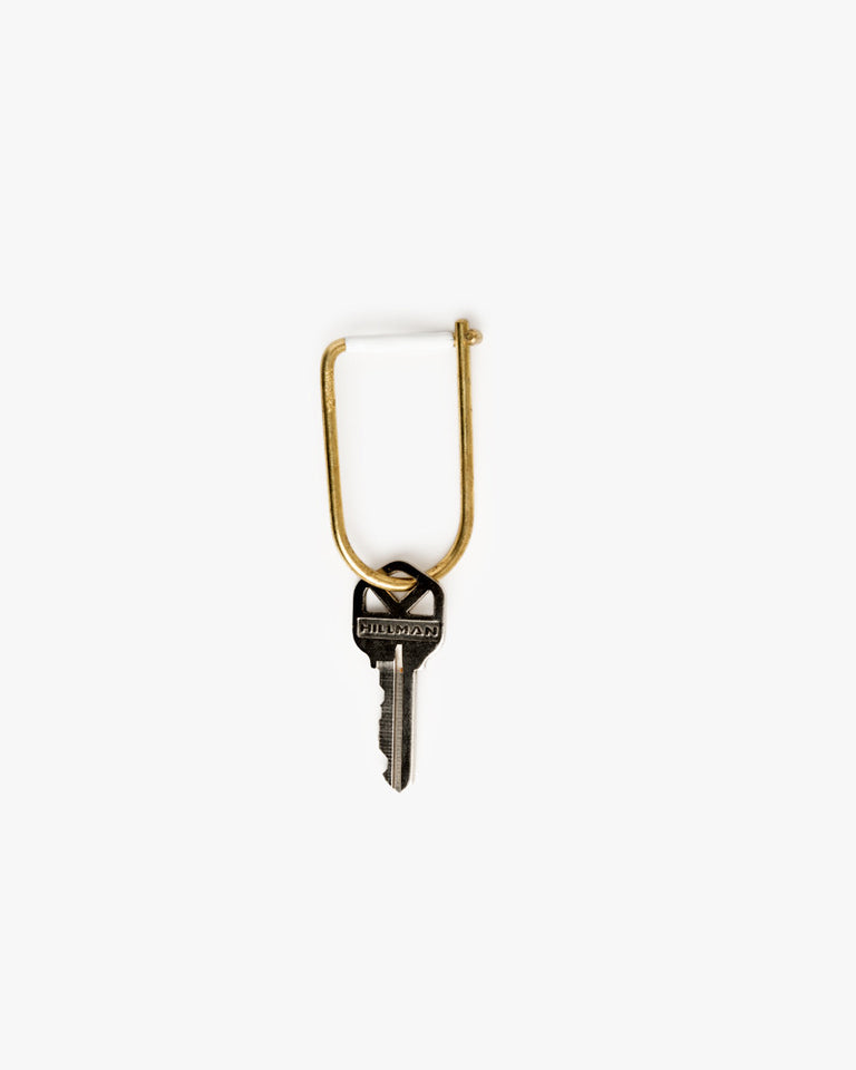 Wilson Key Ring in White