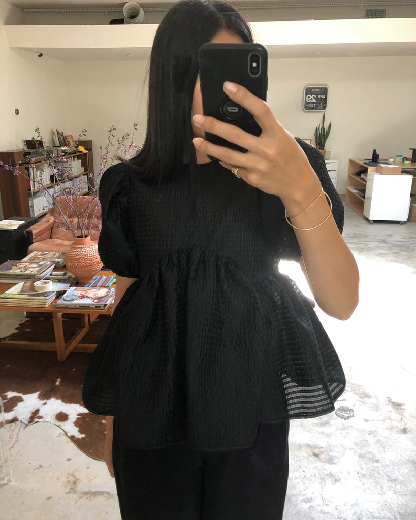 Kastanje Blouse in Black