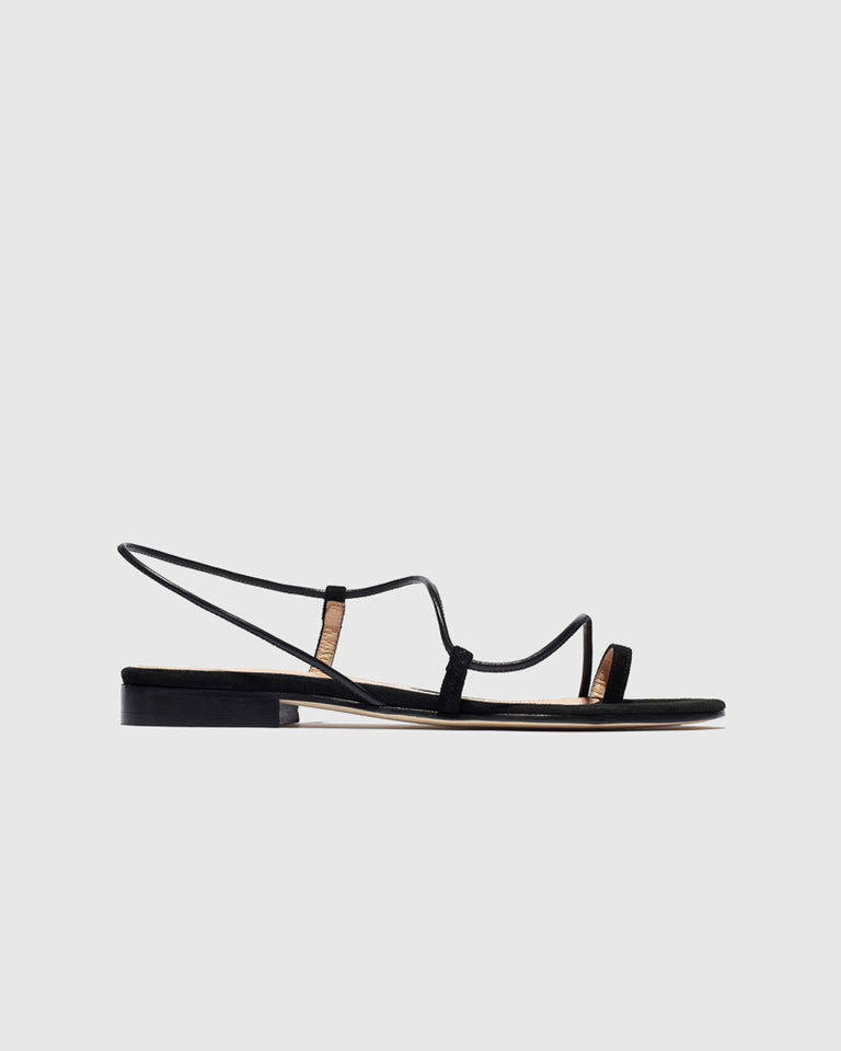 Susan Slingback in Black Suede