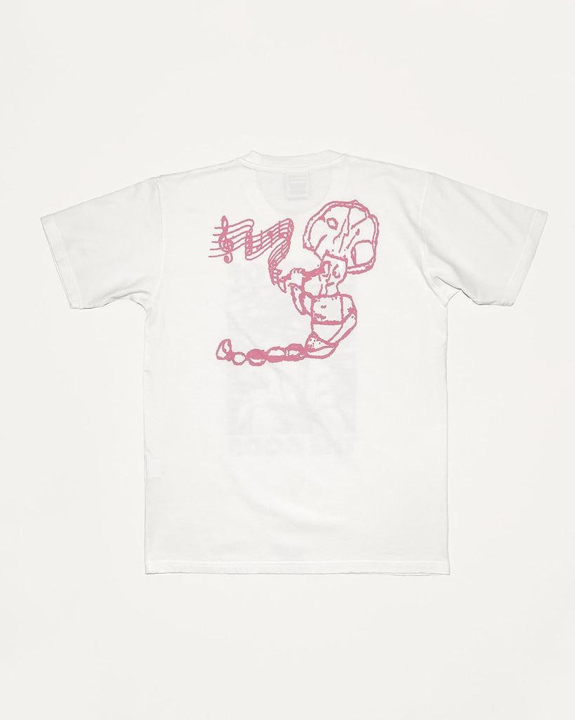 Food of the Gods Short Sleeve Tee in White