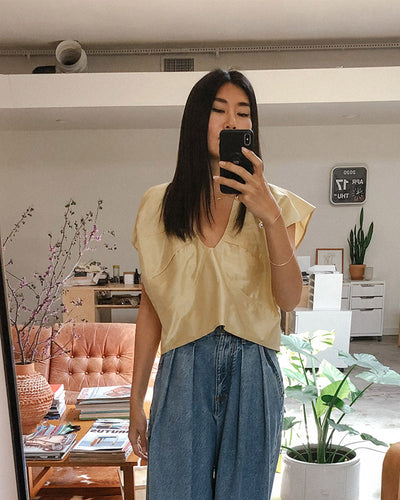 Anne Top in Gold