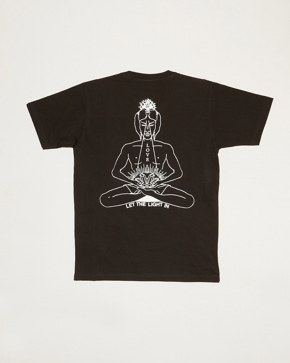 Inner Peace Short Sleeve Tee in Washed Black