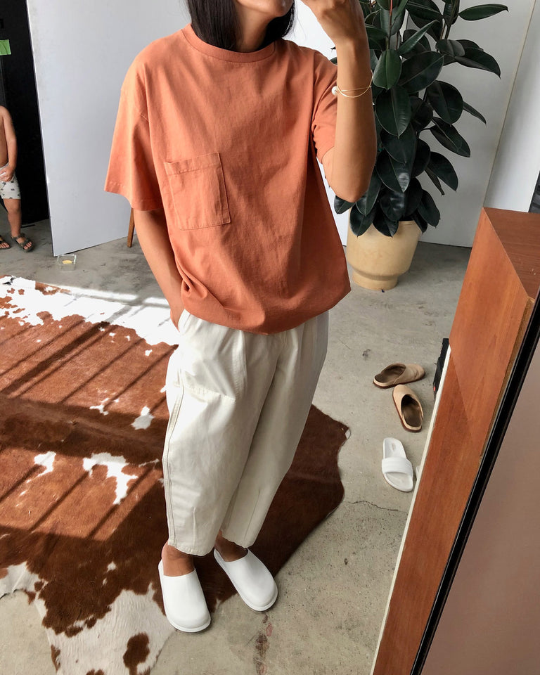 Big Pocket Tee in Terracotta