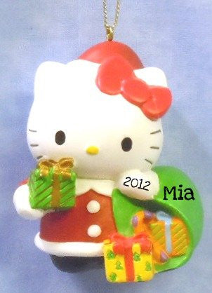 Hello Kitty dressed as Santa