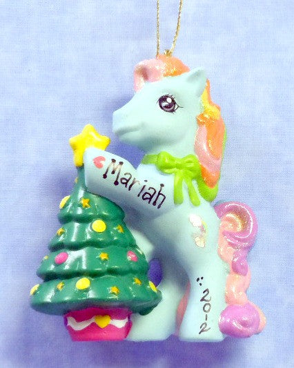 Rainbow Pony with Christmas Tree