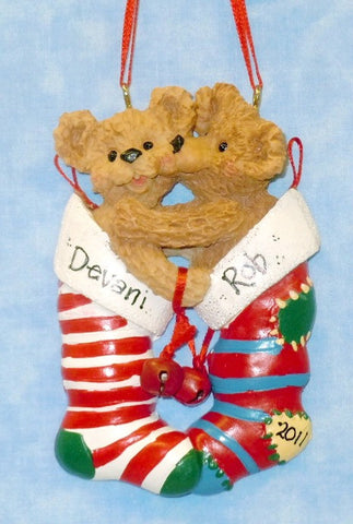 Bear Couple in Stocking