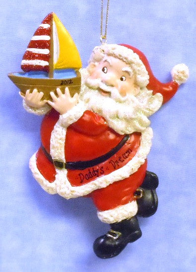 Santa with Gift Toy Boat