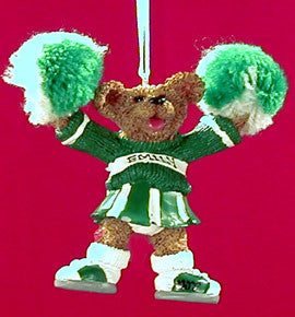 Cheerleader Bear in Green and White