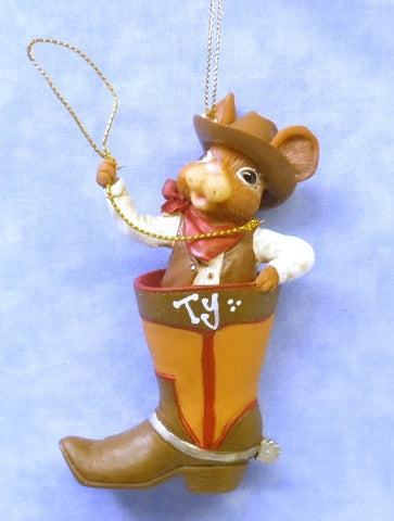 Cowboy Mouse in Boot