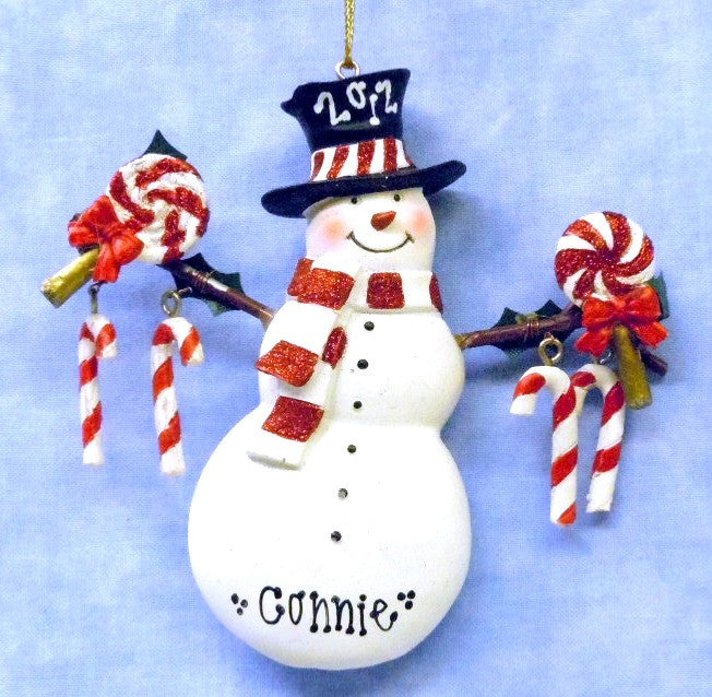 Snowman Candy in Black Hat