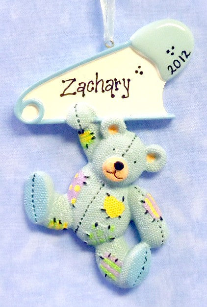 Baby Teddy with Pin-Blue