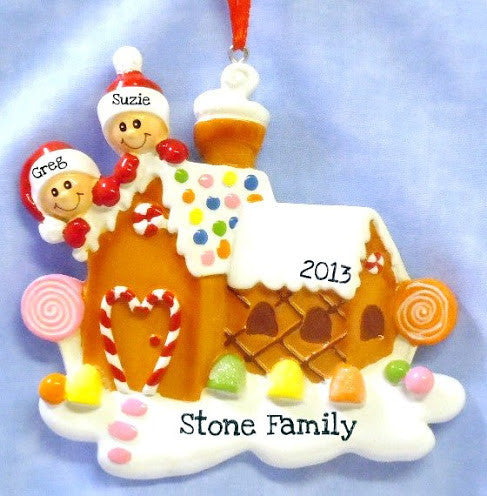 Couple on Gingerbread House