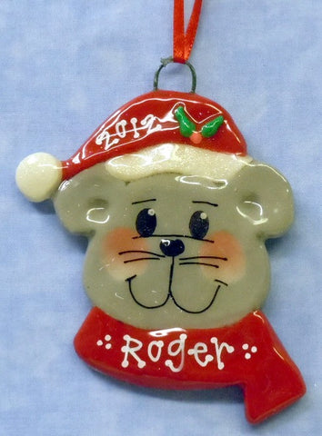 Mouse in Santa Hat
