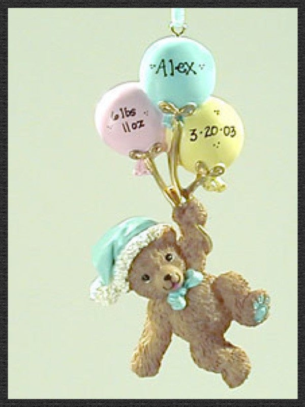 Baby Boy Bear with Balloons