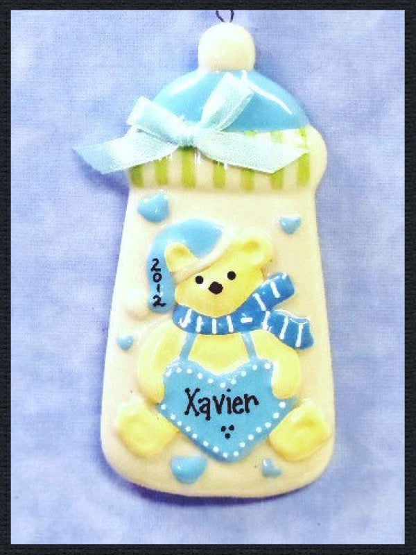 Baby Boy Bottle with Blue Bow