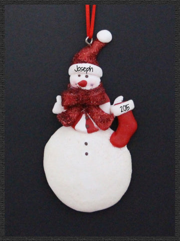 Snowman with stocking