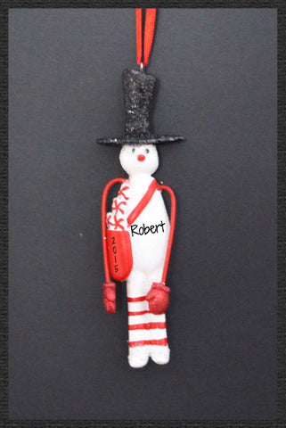Tall Snowman with Black Top Hat