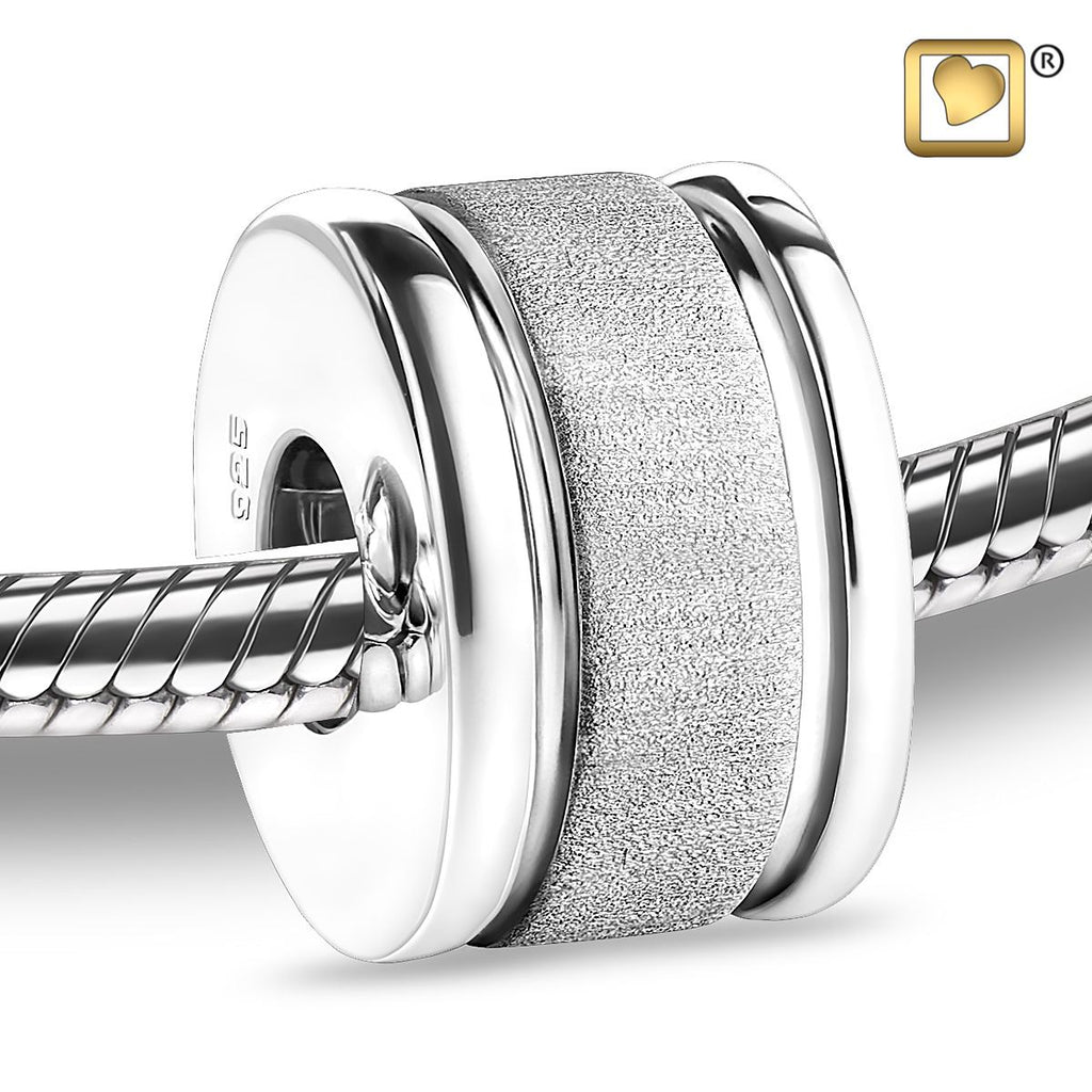 Bead: Omega - Rhodium Plated Two Tone