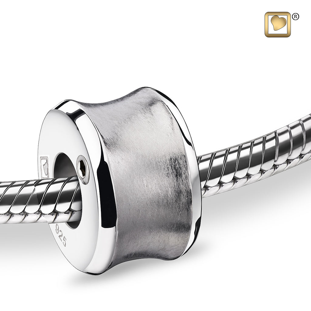 Bead: Path - Rhodium Plated Two Tone