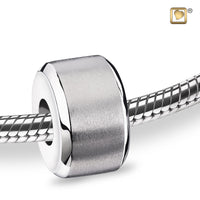 Bead: Serenity - Rhodium Plated Two Tone
