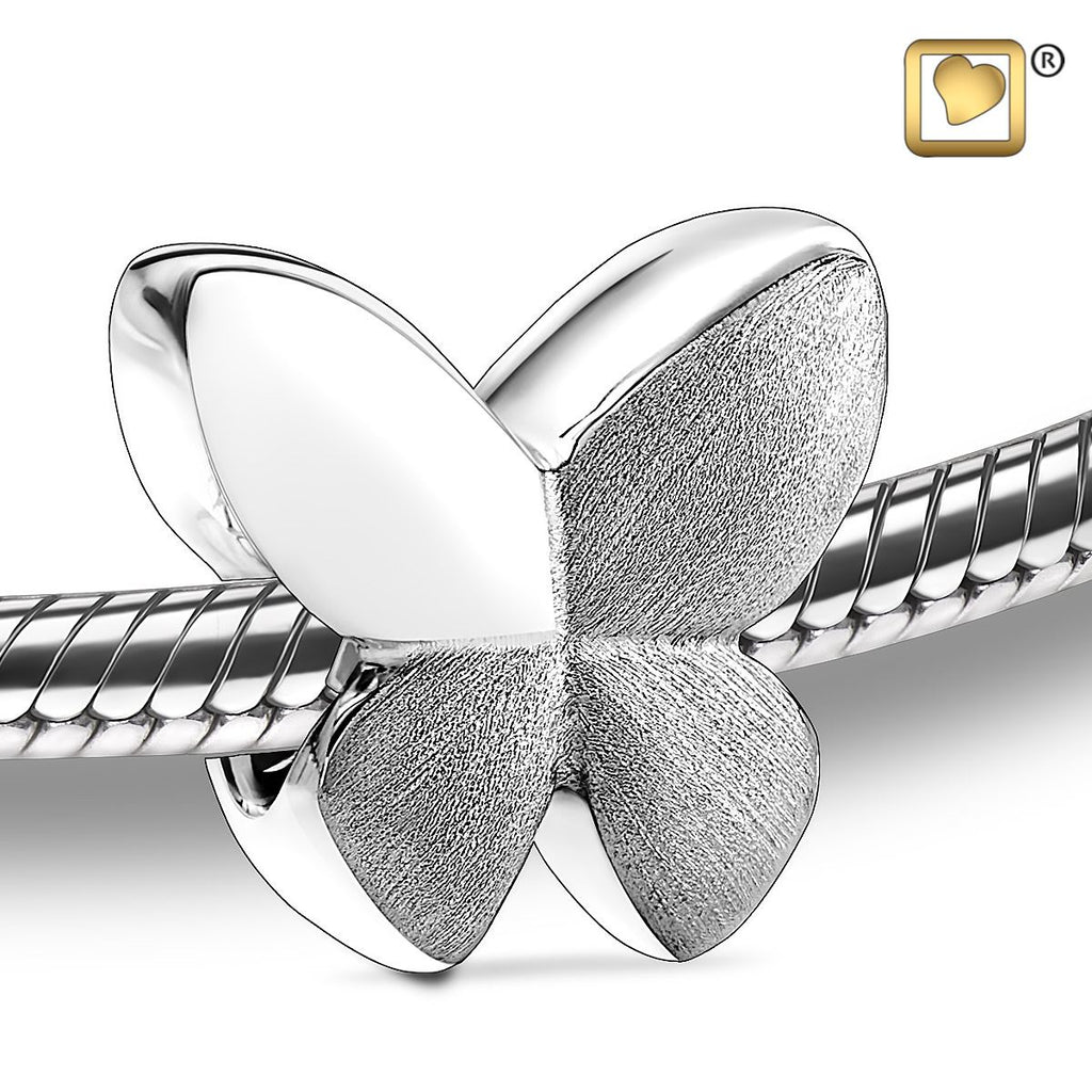 Bead: Butterfly - Rhodium Plated Two Tone