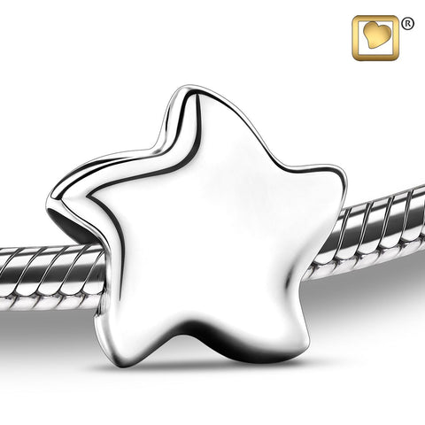 Bead: Angelic Star Silver - Rhodium Plated
