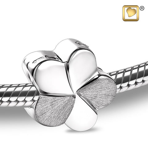Bead: Bloom - Rhodium Plated Two Tone