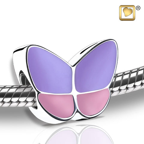 Bead: Wings Of Hope Lavender - Enamel Rhodium Plated