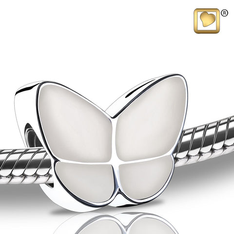 Bead: Wings Of Hope Pearl - Enamel Rhodium Plated