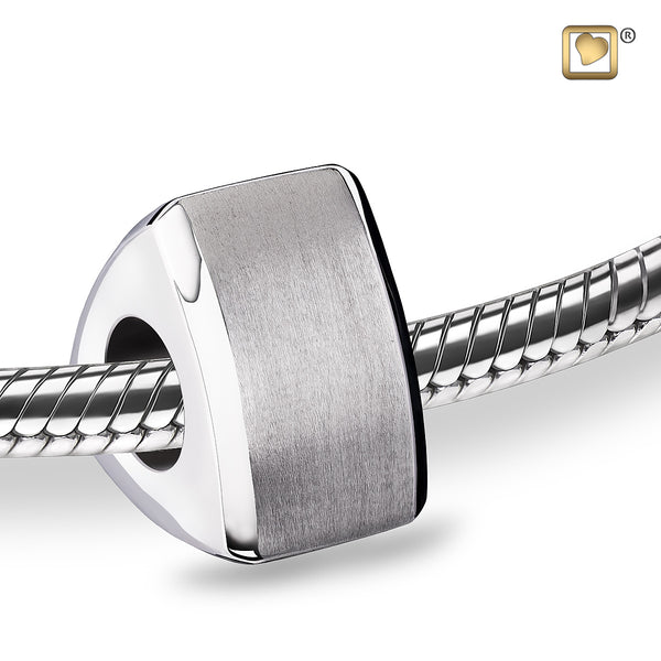 Bead: Essence - Rhodium Plated Two Tone