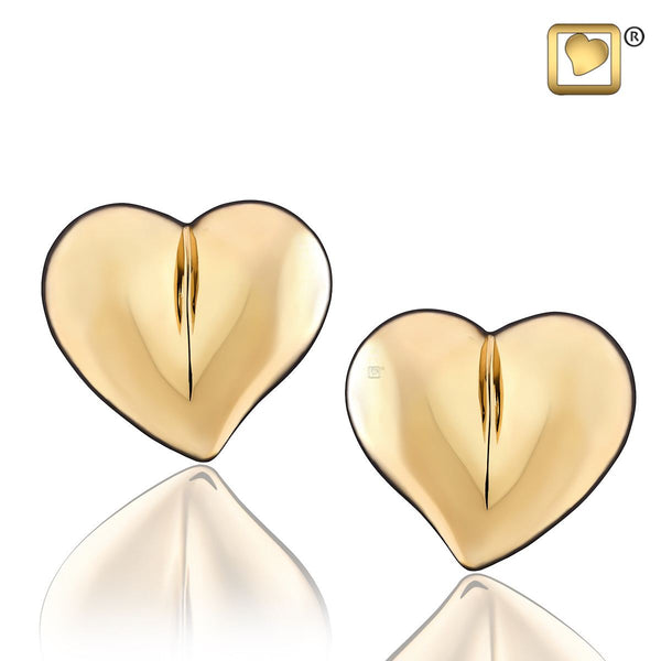 Stud Earrings: LoveHeart - Gold Vermeil