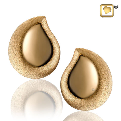 Stud Earrings: TearDrop - Gold Vermeil Two Tone