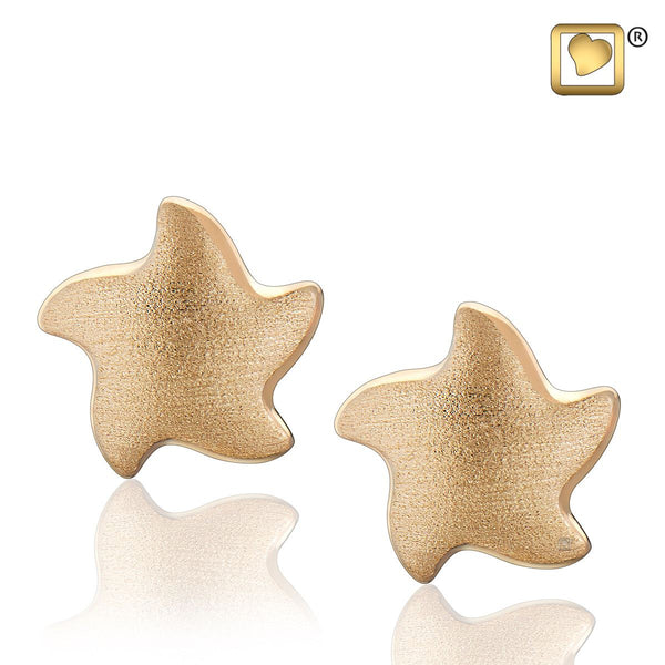 Stud Earrings: Angelic Star - Gold Vermeil Two Tone