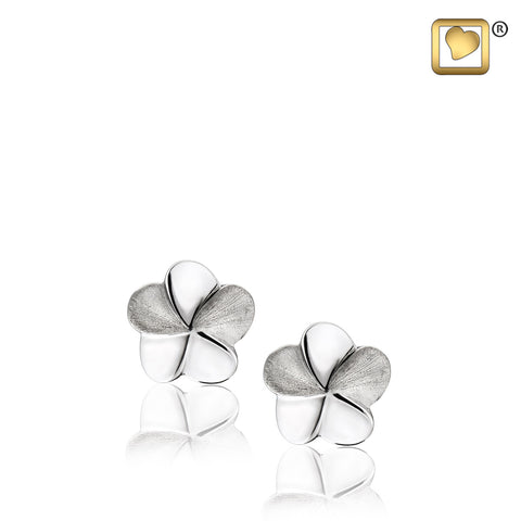 Stud Earrings: Bloom - Rhodium Plated Two Tone