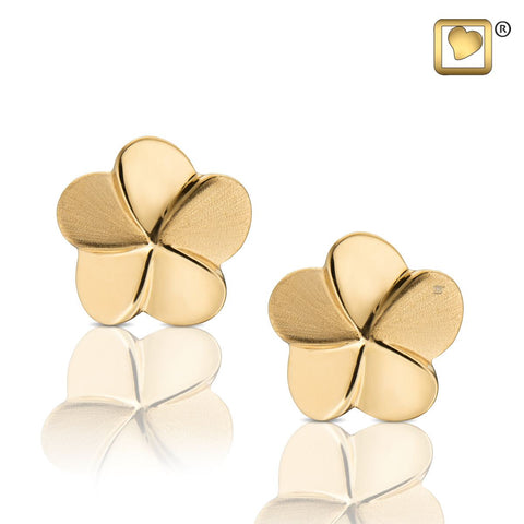 Stud Earrings: Bloom - Gold Vermeil Two Tone