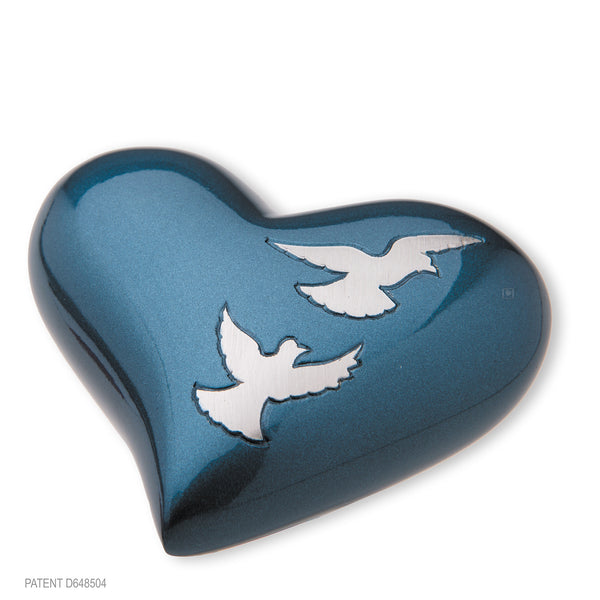 Divine Flying Doves (Keepsake Heart)
