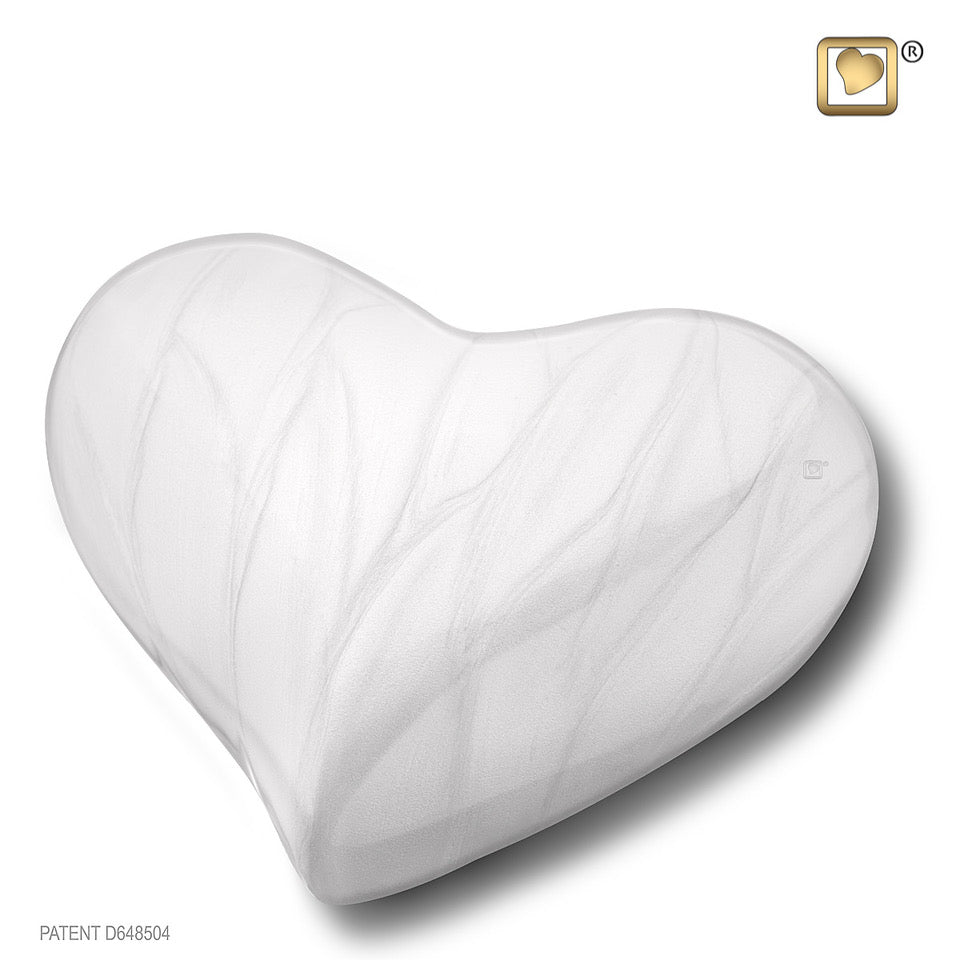 Pearl White (Keepsake Heart)