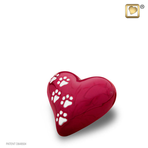 LovePaws™ Pearlescent Red (Keepsake Heart)