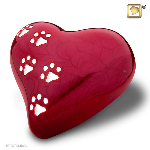 LovePaws™ Pearlescent Red (Large Heart)