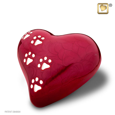 LovePaws™ Pearlescent Red (Medium Heart)