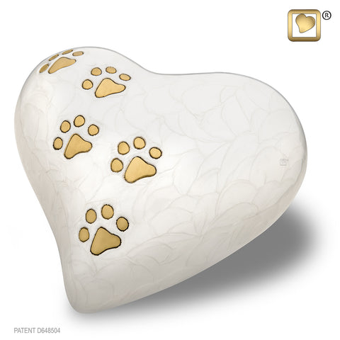 LovePaws™ Pearlescent White (Large Heart)
