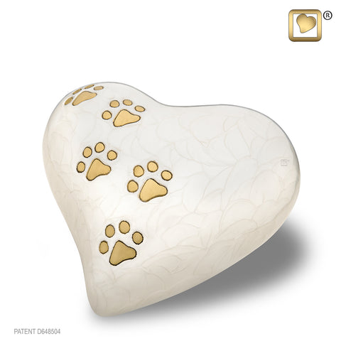LovePaws™ Pearlescent White (Medium Heart)