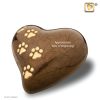 LovePaws™ Pearlescent Bronze (Medium Heart)