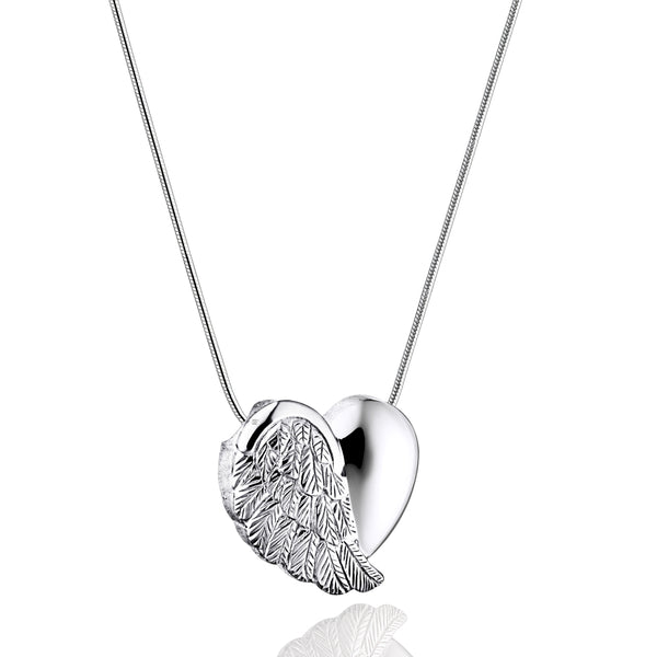 Pendant: LoveWings - Rhodium Plated