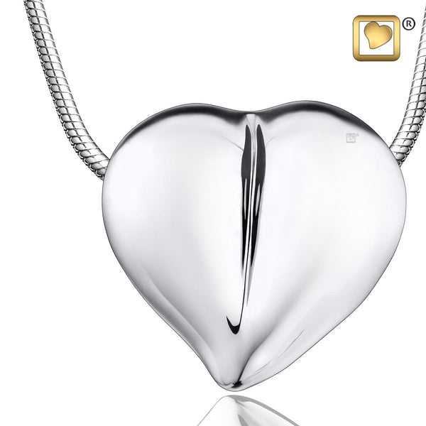 Pendant: LoveHeart - Rhodium Plated