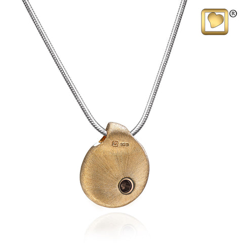 Pendant: TearDrop Gold Vermeil Two Tone