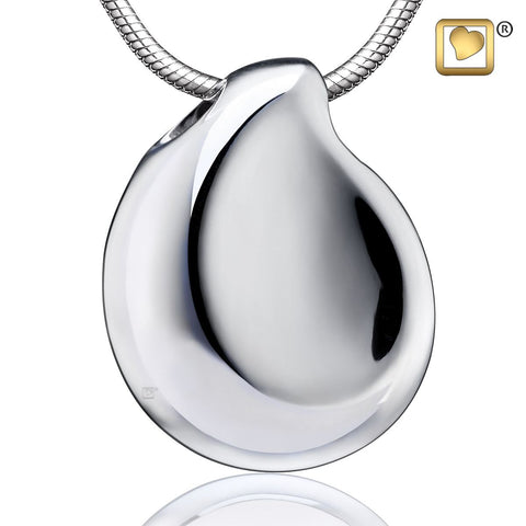 Pendant: TearDrop - Rhodium Plated